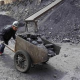 Chinese coal mine worker