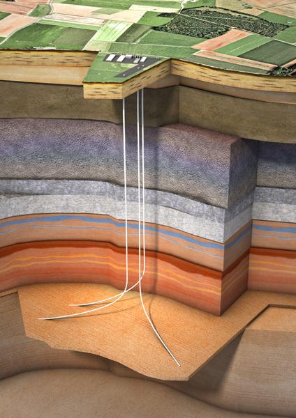 Abbildung 3: Schematische Darstellung eines Porenspeichers, Quelle: KBBNet Referenzprojekte Nuttermoor