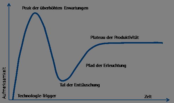 Abbildung 1: Hype-Zyklus (Quelle: Nach Gartner Inc., Darstellung Energy Brainpool)