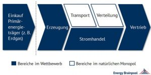 Abbildung 1: Die Wertschöpfungskette des Strommarktes (Quelle: Energy Brainpool)