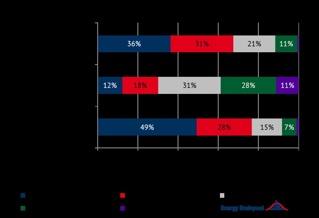 Umfrageergebnis für das Jahr 2021 (Quelle: Energy Brainpool)