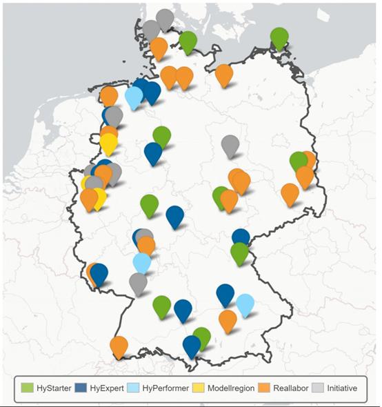 hydrogen regions and funding programmes in Germany, Energy Brainpool