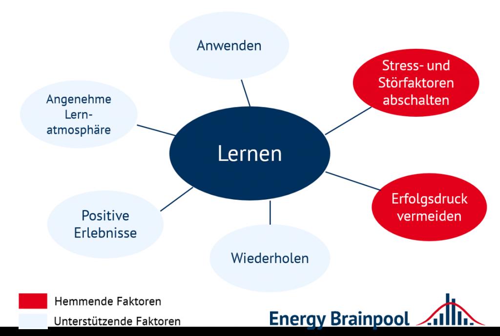 Einflussfaktoren auf das Lernen (Quelle: Energy Brainpool).